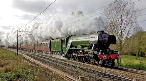 Flying Scotsman through East Anglia on 11 November