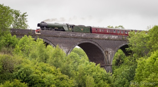 Flying Scotsman at Coalpit Heath viaduct, Matt Prosser