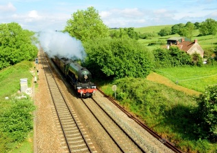 Flying Scotsman at Long Ashton near Bristol, Mike Owen