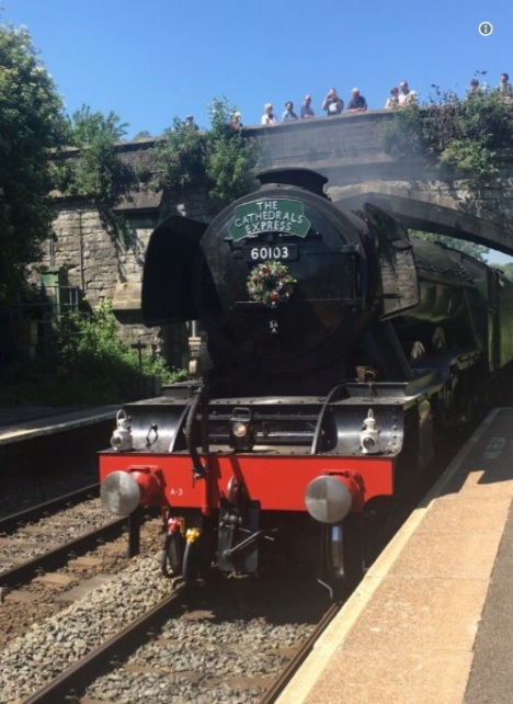 Flying Scotsman at Oldfield Park station, John Perry