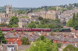 Flying Scotsman through Bath, Glen Batten