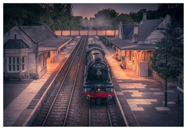 Flying Scotsman through Bradford-upon-Avon by Andrew Stevens