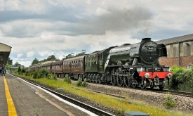 Flying Scotsman passing Andover, Terry Bartlett