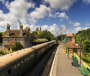 Steam Trains at Corfe Castle Station