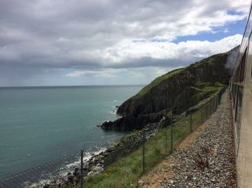 The scenic coastal line between Dublin and Rosslare
