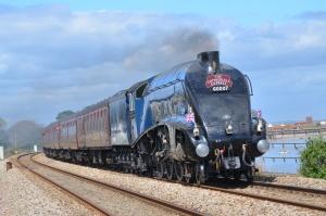 PG Ben Beaver - 60007 'Sir Nigel Gresley' (Gresley A4 Pacific 4-6-2) Cockwood Thurs 10-4-2014 #2