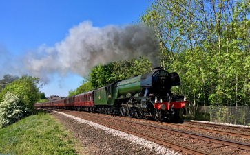 Flying Scotsman leaving Appleby, taken by Alan Hinkes OBE