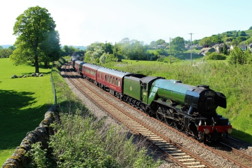 Flying Scotsman at Long Preston, taken by Peter Laithwaite