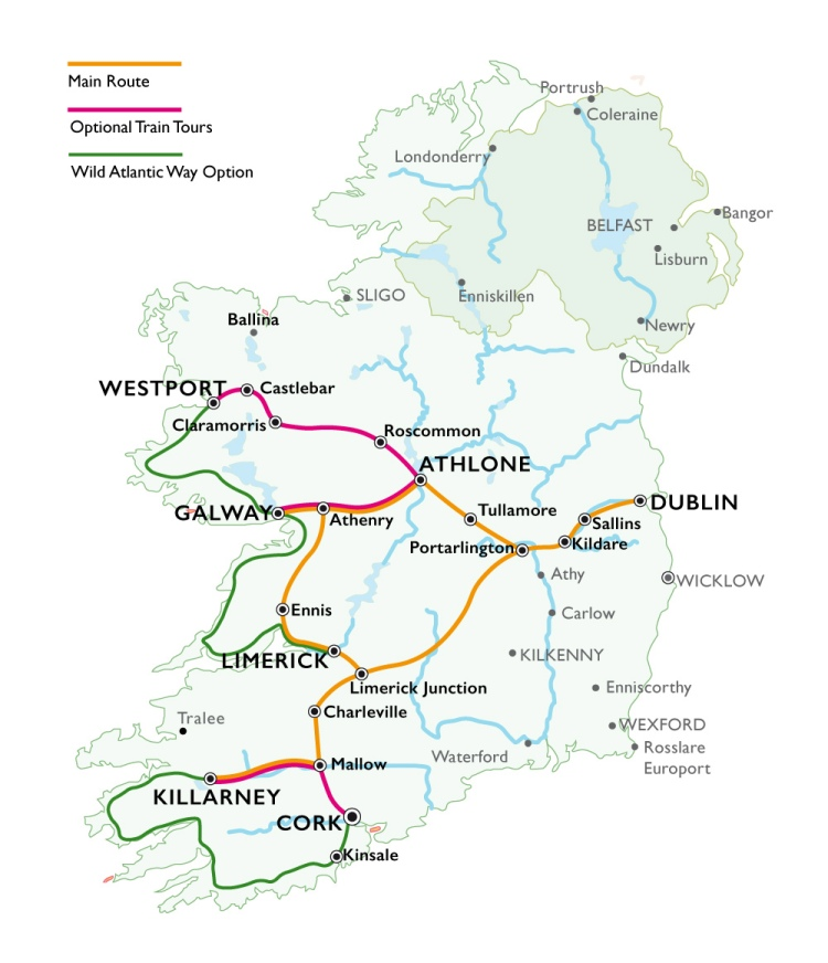 Ireland Route Map